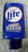 Super Bowl 33 Xxxiii Miller Lite double sided lucite acrylic beer tap handle