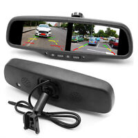 4.3'' Dual Screen Rear View Monitor Mirror 4CH HD TFT LCD Screen Universal