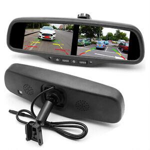 4.3'' Dual Screen Rear View Monitor Mirror 4CH HD TFT LCD Screen Universal