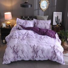 Checked Quilt Duvet Cover Set Double Size Bedding Set DPurple oona Covers AU