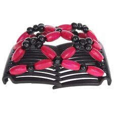 Trend African Hairclip Haarklammer Haargreifer Butterfly Holzdesign Pink
