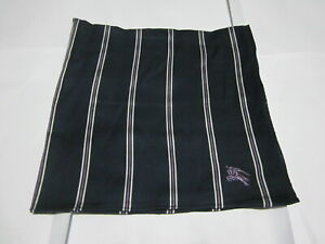 """USED NAVY BLUE STRIPED PATTERN COTTON 18""""POCKET SQUARE HANDKERCHIEF FOR MEN # 4"""