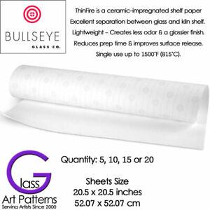 Bullseye Thinfire Kiln Shelf Paper 5 to 20 Sheets 20.5 inch Square Fusing Supply