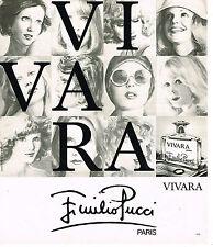 PUBLICITE ADVERTISING 084  1976  EMILIO PUCCI   parfum VIVARA
