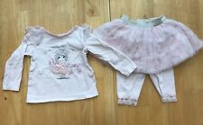Baby Girls 12 Months Vitamin Kids Pink White Princess Sparkle Tutu Outfit Set