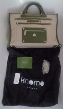 Knomo TELA E Verde Oliva Taglia Laptop Custodia/Borsetta Nuovo!!! £ 165