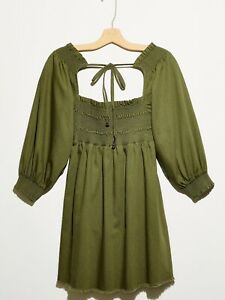 New Free People This is Everything Mini Dress Size XS MSRP: $128 Green