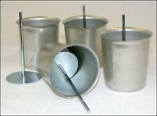 Seamless Metal VOTIVE Candle Molds AND Votive Wick Pins (Lot of 12 each)