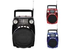 Supersonic SC-1390BT Portable/Rechargeable Speaker +Bluetooth +4-Band Radio