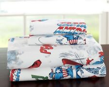 POTTERY BARN KIDS CAPTAIN AMERICA SIZE FULL COMPLETE SET GUC