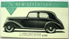 ALVIS Seventeen  4, 6 Light Saloon 4 Seater DH 1938 Original Car Sales Brochure