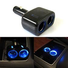 LED Car Cigar Cigarette Lighter Splitter Socket Power Adapter Charger 2 Ports