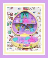 ❤️Polly Pocket Vtg 1994 Strollin' Baby Playtime Fun Compact Bluebird 2 Dolls❤️