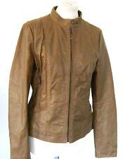 Esprit Leder-Jacke Gr.38 Neu braun mir schimmer bronze Biker Jacket