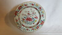 Chinese Cantonese vintage pre Victorian oriental antique Famile Rose plate B