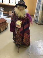 "CHRISTMAS FIGURINE 25"" Handcrafted Santa Figurines USA Justine Julie Li Rare"