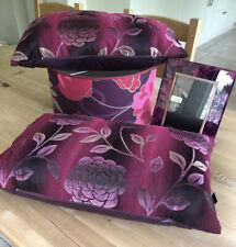 Lamp Shade Linen Drum Shape  + 2 Cushions + Photo Frame - Burgundy/Pink Bundle