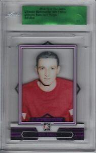 2014-15 ITG Ultimate 14th Ed. Base Card Purple #44 Sid Abel 1/1 Red Wings