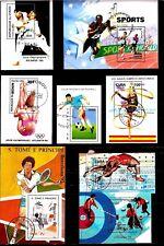 TOUS PAYS 8 blocs : LE SPORT:plongeon,tennis,saut,football,athletisme EP220/53