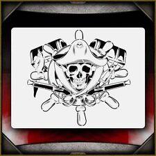Pirate Skull Airbrush Stencil Template Airsick