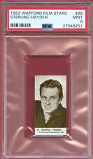 1952 Watford Film Stars Card #29 STERLING HAYDEN The Godfather Wagon Train PSA 9