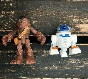 Disney Star Wars Playskool Galactic Heroes Chewbacca R2-D2 Figure Toy Lot Bundle