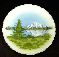Fenton Glass Mountain Reflections 8 Inch Plate Hand Painted by DSF Jackson