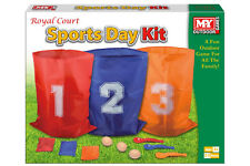 3 in 1 Sports Day Kit Sack Egg Spoon Race Set Fun Outdoor Garden Family Game