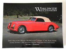 Worldwide Car Auction Hilton Head 2008 Catalog Alfa Romeo Ferrari Shelby Porsche