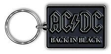 Ac/Dc Oficial Llavero Back In Black con Licencia Llavero Acdc Metal