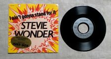 "S DISQUE VINYLE 45T SP JUKE-BOX/ STEVIE WONDER ""I AIN'T GONNA STAND FOR IT"" 1980"