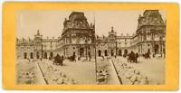 Stereo, France, Paris, Pavillon du Louvre, Pavement de la route en travaux, circ
