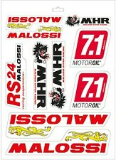 ADESIVI MALOSSI CARTELLA COMPLETA 339780 SCRITTA MHR LEONE RS24 RACING ROSSO