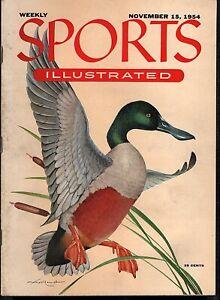 Sports Illustrated Nov 15 1954 Mallard Duck NO LABEL
