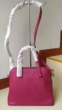 Authentic KATE SPADE New York  #Maise Dome Satchel wkru5883 in Plaid Red Color