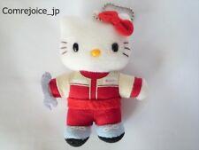 Hello Kitty SANRIO Original Fluffy Mascot Work cloth version Cute 9cm NEW F/S
