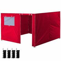 10x10'' Enclosure Zipper Side Walls Kit Panels For EZ Auto Up Canopy Gazebo