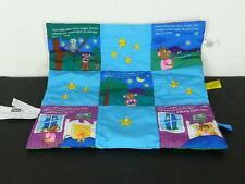 Baby Einstein Early Years Soft Blanket Book Monkey Day Night Patchwork