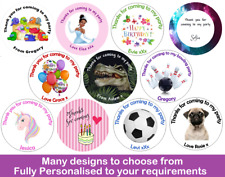 More details for 36x round personalised birthday stickers labels thank you for coming to my party