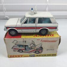 Dinky Toys 254 Speedwheels Police Patrol Range Rover CIB Diecast Vehicle Car