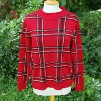 United States Sweaters Women's NWT Sz L Red Plaid Pullover Fall Sweater Soft