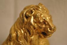 magnifique lion bronze doré très bien ciselé venise XVIIIe ? marbre sculpture