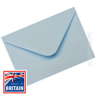 50 x A6 C6 Pastel Blue Quality 100gsm Envelopes 114 x 162mm - 6 x 4""