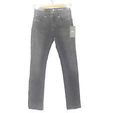 """NWT 7 For All Mankind """"Straight Leg"""" Girls Grey Stretch Jeans Size 12"""