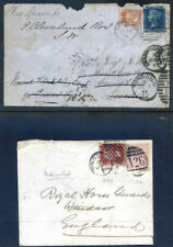 Great Britain Q.V. used in Gibraltar, 9 items, poor quality