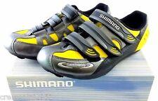 Shimano scarpe ciclismo bici corsa road uomo man size taglia 41 giallo nero