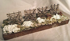 SNOW FENCE O Scale Model Railroad Structure Unpainted Wood Kit HL205O