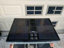 "Jenn Air 30"" Electric Downdraft Cooktop JED8230ADB  with Grill kit"