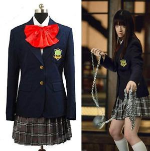 Kill Bill Costume Gogo Yubari Uniform Dress Cosplay Costume Hallween Outfit