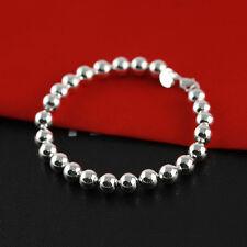 Fashion Lady Women Jewelry Silver Plated Beads String Chain Bracelet Bangle TOPU